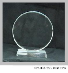 Crystal Round Trophies