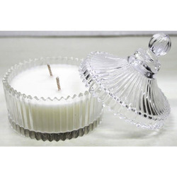 Round Powder Glass Jar Candle