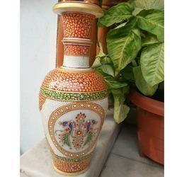Peacock Marble Vase