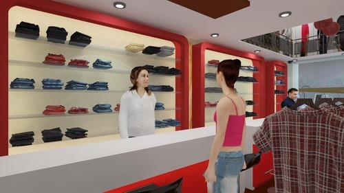 Clothes Shop Interior Designing
