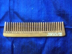 Brown Wood Hair Comb