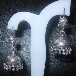 Designer Plain Silver Earrings