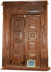 Vintage Carved Front Door
