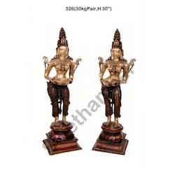 Brass Decorative Lady Statue Deep Laxmi Welcome Lady