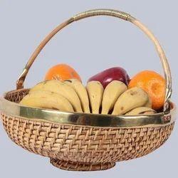 Round Fruit Cane Basket