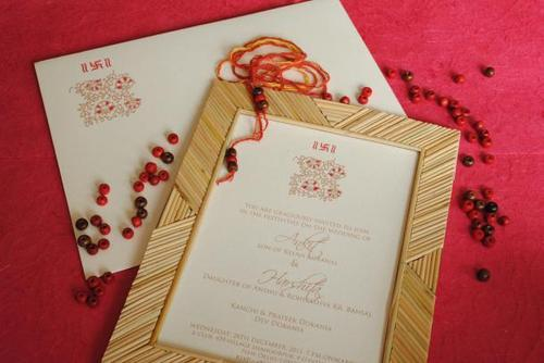 Bamboo Wedding Invite Cards