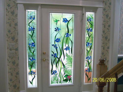 Designer Stained Glass Door