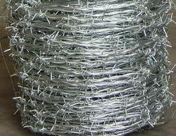 Silver Iron Barbed Wire