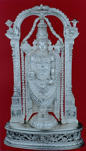 Silver Sculptures Silver Balaji With Prabha Manufacturer