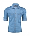 Carefree Collins Blue Check Shirt