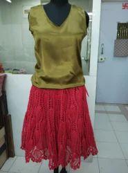 Tomato Crochet Skirt