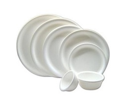 Round White Plate & Bowls