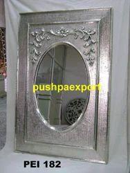 White Metal Carved Frame