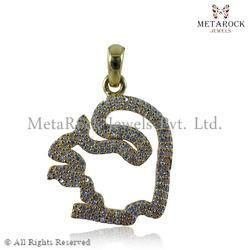 Squirrel Design Diamond Pendant