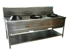 Three Burner Chinese Range