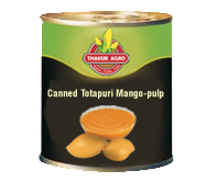 Canned Totapuri Mango Pulp