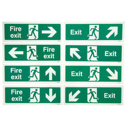 Green Paper Emergency Escape Signs, For Industrial, Hospital etc