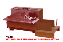 Hot Ink Lable Marking M/C Continuos Motion
