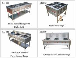 Three Head Cooking Range Burner