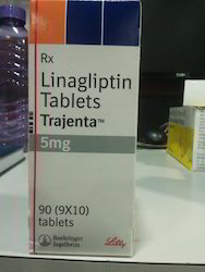 Linagliptin Tablets Trajenta 5mg, Packaging Size: 90 (9x10) Tablets, Packaging Type: Box