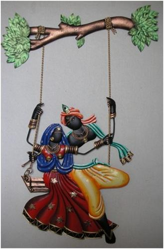 Wall Hangings Radha Krishna Swing Manufacturer From Mumbai