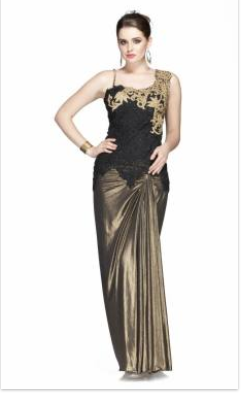 Black And Golden Indo Western Ladies Dress At Rs 20670 Pieces