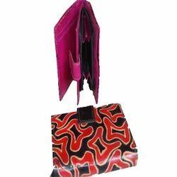 Designer Shantiniketan Leather Ladies Wallet