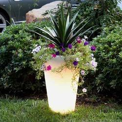 LED Illuminated Planters