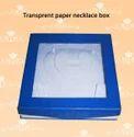 Transparent Paper Necklaces Box