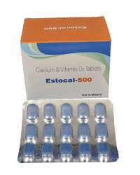 Calcium Carbonate Vitamin D3 Tablets Packaging Size 15 Tablets