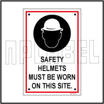 590736 Safety Helmets Sign Name Plate