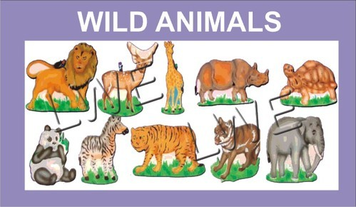wooden cutout wild animals at rs 900 set wooden decoratives