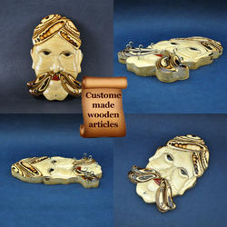Wooden Indian Man Mask Key Hanger - Amazing Intarsia