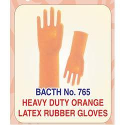 Heavy Duty Orange Latex Rubber Glove