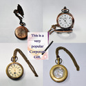 Vintage Brass Material Collectible Mechanical Watch Antique Design, Model Name/number: Komoli-mech-1