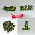 Green Multi-layered Handmade Resin Beads
