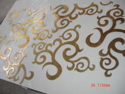 Brass Inlaid Stone Panels