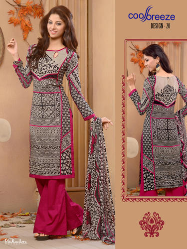 39231a2928 Cotton Dress Material With Chiffon Dupatta at Rs 525 /piece | New ...