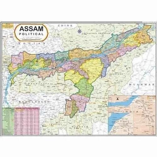 Assam map at rs 110 piece daryaganj new delhi id 7572259962 assam map gumiabroncs Gallery