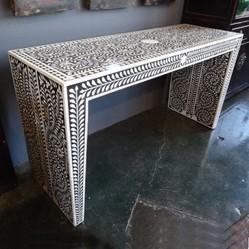 Bone Inlay Console table