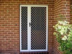 Wood And Metal Safety Door