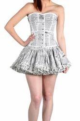 News Paper Print Skirt