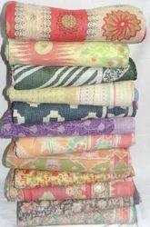 Vintage Fine Kantha Sari Throw