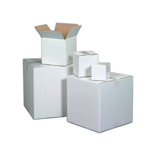White Duplex Corrugated Box
