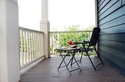 Balcony wooden flooring