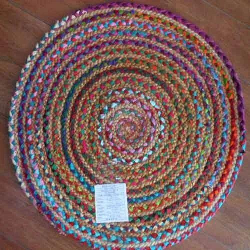 Jute Chindi Braided Round Rugs, Carpets & Rugs