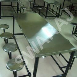 Stainless Steel Swaraj Eight Seater Dining Table