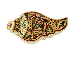 Shankh Shaped Meenakari Dry Fruit Box