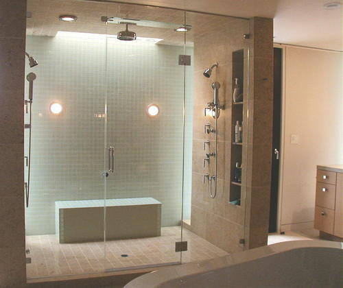 GLASS SHOWER PARTITION GLASS PARTITIONS Glass Partition For Wet - Bathroom separator