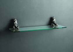 Viking Silver Grey Glass Shelf, Packaging Type: Box